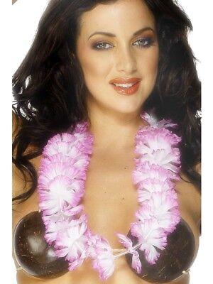 Cheap Hawaiian Garlands (Pink & White Hawaiian Lei - Cheap Garland - From UK Ladies Fancy)