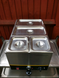 Commercial electric Buffalo wet Bain Marie, food warmer Brand New