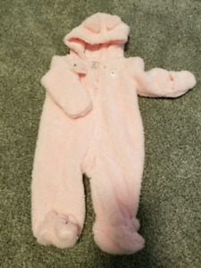 Soft and cozy pink snow suits