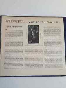 """Red Vinyl - Serge Koussevitzky """"Masters of the Double Bass"""" Kitchener / Waterloo Kitchener Area image 6"""