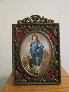 Vintage BLUE BOY, in vintage frame...SAVE 50% NOW!