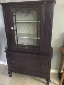 Refinished Antique China Cabinet