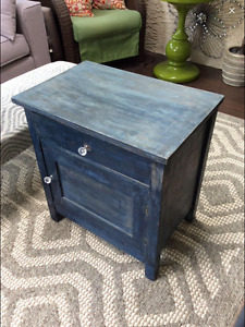 Antique Rustic Night Stand or Side Table