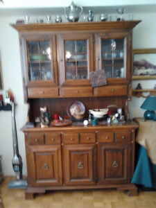 Solid Maple Wood Dining Room Hutch