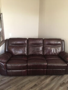 Immaculate Leather Couch
