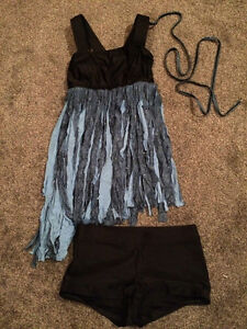 Lyrical Costume-Black and Blue baby doll top and shorts