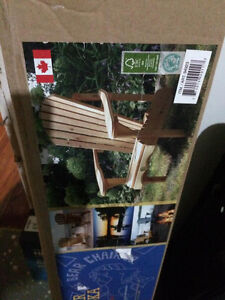 BRAND NEW DECK CHAIR STILL IN BOX
