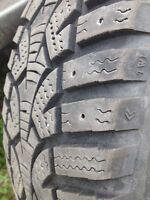 VW SNOW TIRES FOR SALE WITH STEEL RIMS