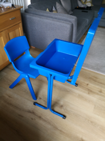Desk with storage and chair