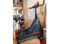 Exercise Bike with built in battery powered monitor