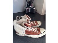Size 5 suede converse boots.