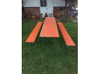 German festival bench and table sets £165