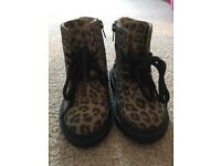 Toddler leopard print boots size 5/22