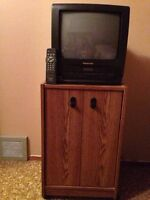 Panasonic TV and built in vcr - $20