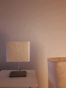 Set of 3 floor lamps with matching table lamp