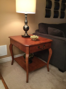 Solid Cherry Wood Side Table