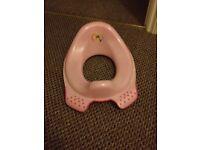 Girls toilet booster seat