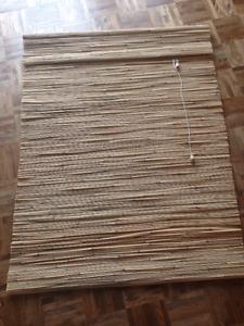 2 Stores romain en bamboo