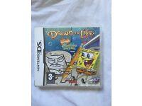 Nintendo DS drawn to life spongebob game