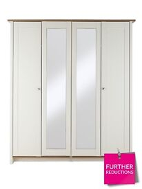 Consort tivoli mirrored robes &chest of drawers