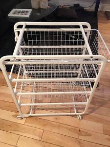 Ikea wire basket stand