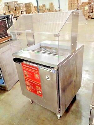 Beverage Air Stainless Refrigerated Prep Station W Sneeze Guard Model Spe27-711