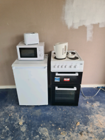 Fridge/cooker/microwave/kettle