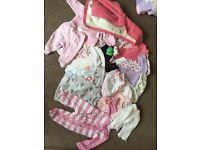 Girls 0-3 month clothing bundle