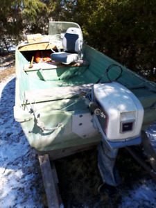 14 ft boat and motor, no trailer