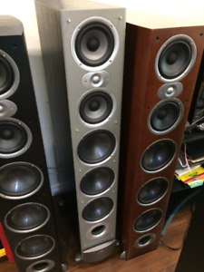 POLK AUDIO RTI12 TOWER SPEAKERS GREAT CONDITION