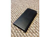 Black Leather iPhone 6s Plus (5.5inch) Flip Case - New