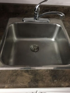 SINGLE BOWL DROP-IN KITCHEN SINK - STAINLESS