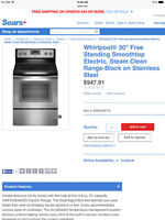 Whirlpool oven stainless
