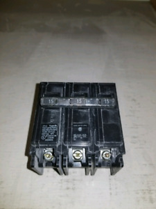 Siemens 3 pole 15 Amp breakers
