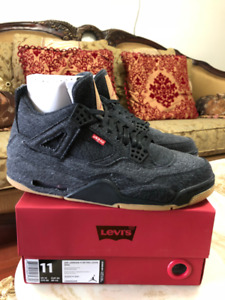4a48c7c2cd94c9 Air Jordan Levis 4 Black and White