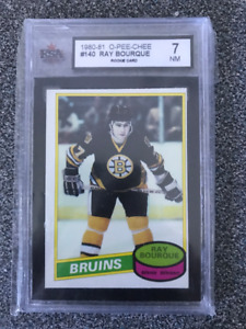 1980-81 Ray Bourque O-Pee-Chee Rookie #140  Graded NM 7