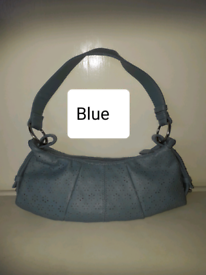 BLUE HAND/SHOULDER BAG