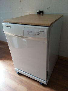 THIS WAS SOLD at $160.00 Dishwasher, free-standing, on wheels