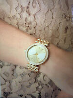 "MICHAEL KORS WATCH ""MID SIZE GOLD TONE STAINLESS STEEL"