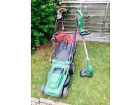Qualcast mower/Strimmer set. Electric.