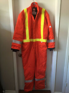 Men's Orange Safety Construction Work Suit Size XL Tall London Ontario image 1