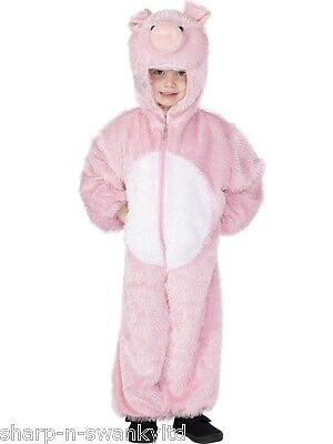 Neu Mädchen Jungen Schwein Ferkel Hof Tier Büchertag Kostüm Verkleiden Outfit
