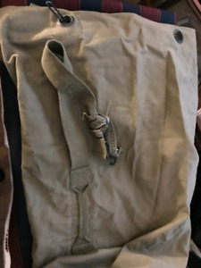 Large army canvas bag