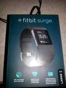Fitbit Surge Fitness Watch Black Large with screen protectors Edmonton Edmonton Area image 3