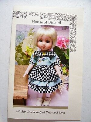 "10"" Tonner Ann Estelle, Patsy, PATTERN for Ruffled Dress and Hat"