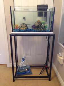 10 Gallon Fish Tank, Stand & Accessories