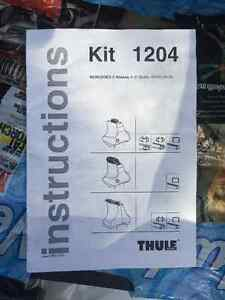 Thule fit kit 1204 for Mercedes c-class