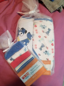 Baby Boy Hooded Towels/Washcloths
