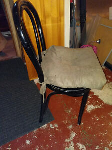 2 black chairs with cushions Cambridge Kitchener Area image 1