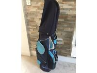 Golf bag with stand in blue made by sky max